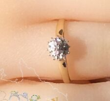 Genuine 9K Solid Yellow Gold YG Genuine Natural Diamond Ring Size 5, 6, 7, 8, 9
