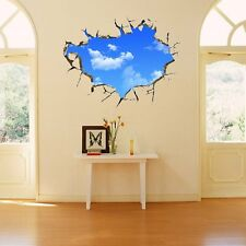 Creative Blue Sky 3D Stereo Ceiling Living Room Bedroom Wall Sticker HOT New YL