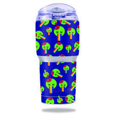 Skin Decal Wrap for Pelican Tumbler 22 oz cover sticker Rainbow Brains Out