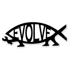 Evolve Fish Evolution Darwin Car Vinyl Sticker - SELECT SIZE