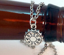Beer Bottle Cap Charm Necklace, Handmade, Optiona Personal Charm, Free Ship