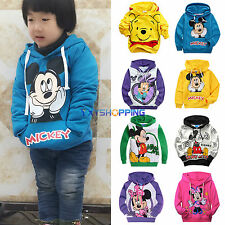 Kid Boy Girl Mickey/Minnie Winter Hoodie Coat Long Sleeve Sweatshirt Jumper Tops