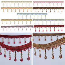 2M/1M Acrylic Crystal Bead Garland Hanging Curtain Decor Window Door - 10 Colour