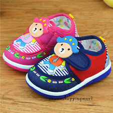 Infant Shoes Baby Boys Girls Sneakers Walking Shoes Squeaky Plimsolls Size