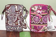 Vera Bradley SLATE BLOOMS or VERY BERRY PAISLEY Phone Carry It All Wristlet NWT