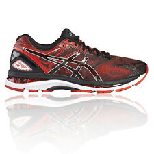 Asics Gel Nimbus 19 Mens Red Cushioned Running Road Sports Shoes Trainers