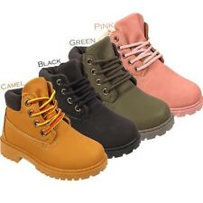 Kids Girls Boys New Lace Up Warm Winter Snow Childrens Infants Ankle Boots Shoes