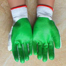 1/2/4/8/12 Pairs Rubber Safety Coated Work Gloves Builders Grip Protect
