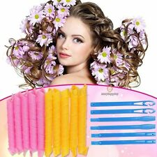 20pcs 55cm DIY Hair Rollers Curlers Magic Circle Twist Spiral Styling Tools