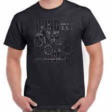 Mens Biker T shirt Legends Bike Vintage Classic Motorcycle Bobber Chopper 95