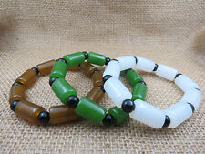 100% hand-polished beauty barrel Bead Bracelet Jade bracelet three color options