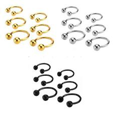 Stainless Steel Ball Circular Horseshoe Bar Nose Ear Ring Body Piercing 3 Sizes