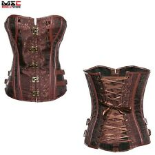 Steampunk Boned Gothic Corset Lace Up Waist Training Cincher Corset Bustier Top