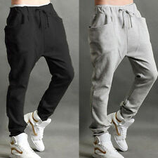 Men Plain Harem Pants Slim Sweatpants Dance Sport Casual Jogging Jogger Trousers