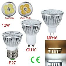 1/5/10PCS Dimable E27 GU10 MR16 12W LED Spot Light Lamps Bulb Cool/White
