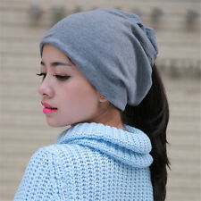 Winter Lady Women Girl Hat Scarf And Hat Head Dual-use Knitted Chic Warm Cap