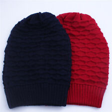 Winter Men And Women Warm Hat Solid Color Wool Kint Cap Hat