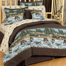 River Fishing 9pc Bed in Bag or Comforter Sets - Blue Ridge Trading