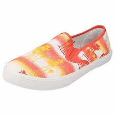 LADIES SPOT ON CANVAS SHOES CORAL/YELLOW STYLE - F80086