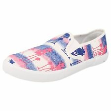 LADIES SPOT ON CANVAS SHOES BLUE/PINK STYLE - F80086