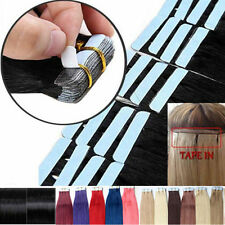"16""-22inch PU Skin Weft Tape in Remy Human Hair Extensions 40cm-55cm long hair"