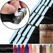 """16""""-22inch PU Skin Weft Tape in Remy Human Hair Extensions 40cm-55cm long hair"""