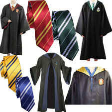 Harry Potter Adult Gryffindor/Slytherin Robe &Tie Cosplay Costume Cloak+Tie Cape