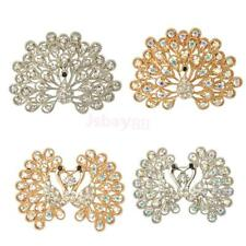 Fashion Rhinestone Crystal One Peacock Brooch Pin jewelry Bridal Wedding Gift