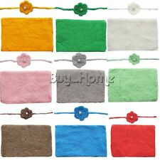 Newborn Baby Photography Photo Props Knit Wrap Rug Rose Flower Headband Blanket