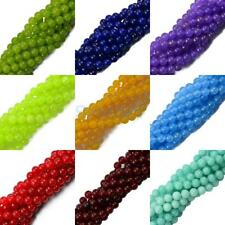 Gemstone Jade Smooth Round Spacer Loose Beads 8mm DIY Craft Jewelry 15''