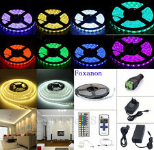 5M 10M SMD 3528 5050 5630 300 LED Flexible Strip Light +2/5APower Supply +Remote