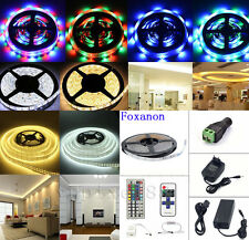 5M SMD RGB 5050/3528/5630 300LEDs Waterproof Strip Light+remote +power supply