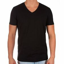 NWT Hugo Boss T-Shirts 3 Pack BLACK V neck Mens Basic Tee 100% Cotton