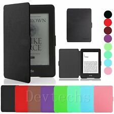 Smart Magnetic Leather Stand Case Cover Skin for Amazon Kindle Paperwhite 1 2 3