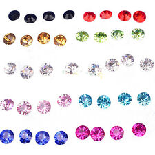 New Practical Superior 1 Box 20 Pairs Mixed color Crystal Ear Studs Earrings