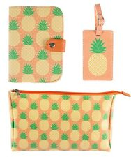 Pineapple Passport Holder Cover Luggage Tag Wash Bag Holiday Travel