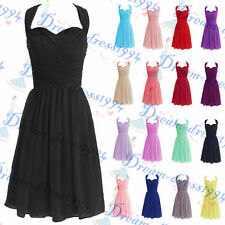 STOCK Short Evening Sweetheart A-line Cocktail Party Bridesmaid Dress Size 6-18+