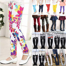 Cute Toddler Kids Girls Baby Cotton Pants Stretch Warm Leggings Trousers 2~12Y