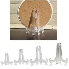 "7"" 3"" 7"" CLEAR PLATE DISPLAY STAND HOLDER EASELS NEW ~ 12 PCS"