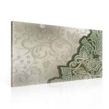 Pattern Floral Green CANVAS PRINT WALL ART XXL (PP2474WS)
