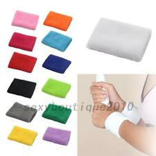 Sports Yoga Basketball Unisex Cotton Sweat Band Sweatband Wristband 10*8 cm New