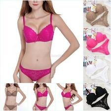 Womens Sexy Underwear Lingerie Lace Embroidery Push Up Bra Sets/ Panties B C UK
