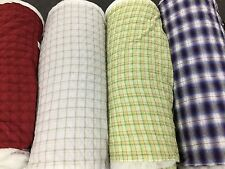 QUILTED FABRIC TARTAN Check VISCOSE Lining Dress Upholstery Coats Material140CM