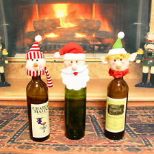 Santa Hat Wine Bottle Cover Topper Christmas Party Table Decoration EF