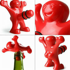 5Pcs Happy Man Guy Wine Bottle Stopper Plug Funny Wine Storage Novelty Bar Tools