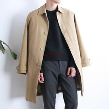 New Mens slim fit long hooded trench Coat thick overcoat casual cardigan hot YT