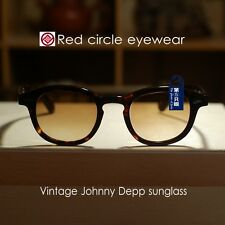 Retro Vintage Johnny Depp sunglasses tortoise frame brown gradient lens mens