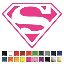Supergirl Superman Large Decal / Sticker - Choose Color & Size - Justice League