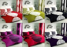 4pc Manhattan Complete Quilt Duvet Cover with Pillow Case Bed Sheet Bedding Set