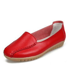 Womens Casual Leather Shoes Loafers Driving Ballet Flats Moccasins Peas Shoes